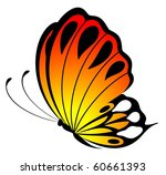beautiful butterfly on a white... | Shutterstock .eps vector #60661393