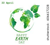 world earth day grunge style ... | Shutterstock .eps vector #606617228