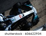 Small photo of Barcelona, Spain - February 27 / March 2, 2017: Valtteri Bottas, Mercedes AMG Petronas F1 Team driver top view on car at Formula One testing at Catalunya circuit in Barcelona, Spain.
