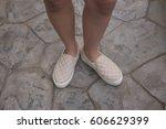 beautiful legs walking in the... | Shutterstock . vector #606629399