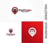 car shop logo template design... | Shutterstock .eps vector #606637364