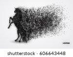 horse particle vector | Shutterstock .eps vector #606643448