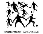 football   soccer ball... | Shutterstock .eps vector #606646868
