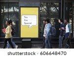 you are special rare unique... | Shutterstock . vector #606648470