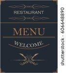 hotel menu   Shutterstock .eps vector #606648890