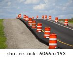 Construction Zone On A Newly...