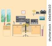 composer workspace background | Shutterstock .eps vector #606658610