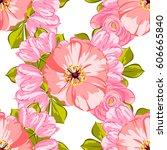 abstract elegance seamless... | Shutterstock . vector #606665840