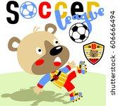 bear the best soccer player ... | Shutterstock .eps vector #606666494