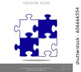 puzzle vector icon | Shutterstock .eps vector #606666554