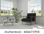 white room with armchair and... | Shutterstock . vector #606671954