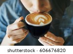 close up hand of woman holding... | Shutterstock . vector #606676820