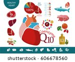 food products that are useful... | Shutterstock .eps vector #606678560