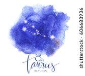 astrology sign taurus | Shutterstock .eps vector #606683936