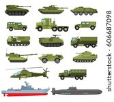 Set Of The Military Enginery O...