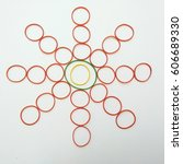 elastic decoration star. rubber ... | Shutterstock . vector #606689330