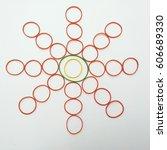 elastic decoration star. rubber ... | Shutterstock . vector #606689330