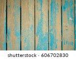 vintage blue painted line... | Shutterstock . vector #606702830