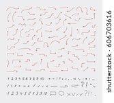 hand drawn arrows. vector...   Shutterstock .eps vector #606703616