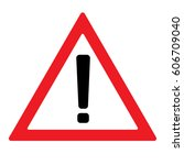 warning attention sign red.... | Shutterstock .eps vector #606709040