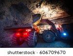 gold mining underground | Shutterstock . vector #606709670