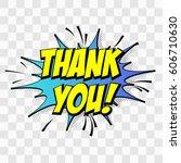 thank you. comic text speech... | Shutterstock .eps vector #606710630
