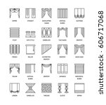 Vector Line Icons With Drapes....