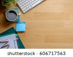 view from above with copy space ... | Shutterstock . vector #606717563