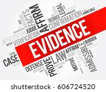 evidence word cloud collage ... | Shutterstock .eps vector #606724520