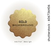 premium quality golden label... | Shutterstock .eps vector #606736406