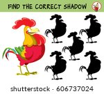 happy red rooster. find the... | Shutterstock .eps vector #606737024