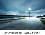 night scene of seoul from empty ... | Shutterstock . vector #606754454