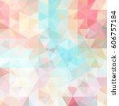 triangle vector background. ... | Shutterstock .eps vector #606757184