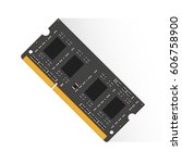 random access memory concept by ... | Shutterstock .eps vector #606758900