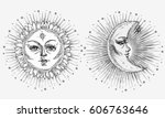 Sun And Moon With Face Stylize...