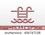 vector illustration of swimming ...   Shutterstock .eps vector #606767138