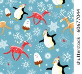 seamless pattern of funny... | Shutterstock .eps vector #60677044