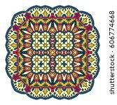 mandala. vector ethnic oriental ... | Shutterstock .eps vector #606774668