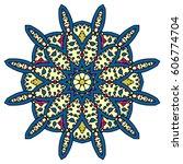 mandala. vector ethnic oriental ... | Shutterstock .eps vector #606774704