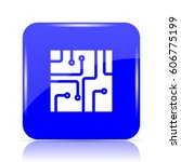 circuit board icon  blue... | Shutterstock . vector #606775199