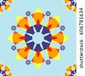 orange flora big abstract... | Shutterstock .eps vector #606781634