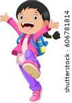 vector illustration of happy...   Shutterstock . vector #606781814
