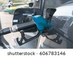 car refueling on a petrol... | Shutterstock . vector #606783146
