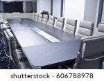interior of meeting room in... | Shutterstock . vector #606788978