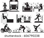 man music icon set   Shutterstock .eps vector #606790238