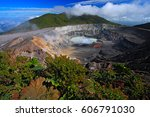 Poas Volcano In Costa Rica....
