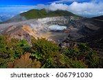poas volcano in costa rica.... | Shutterstock . vector #606791030
