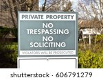 Private Property Sign With No...
