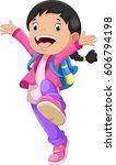 vector illustration of happy...   Shutterstock .eps vector #606794198