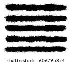 abstract black paint splashes... | Shutterstock .eps vector #606795854